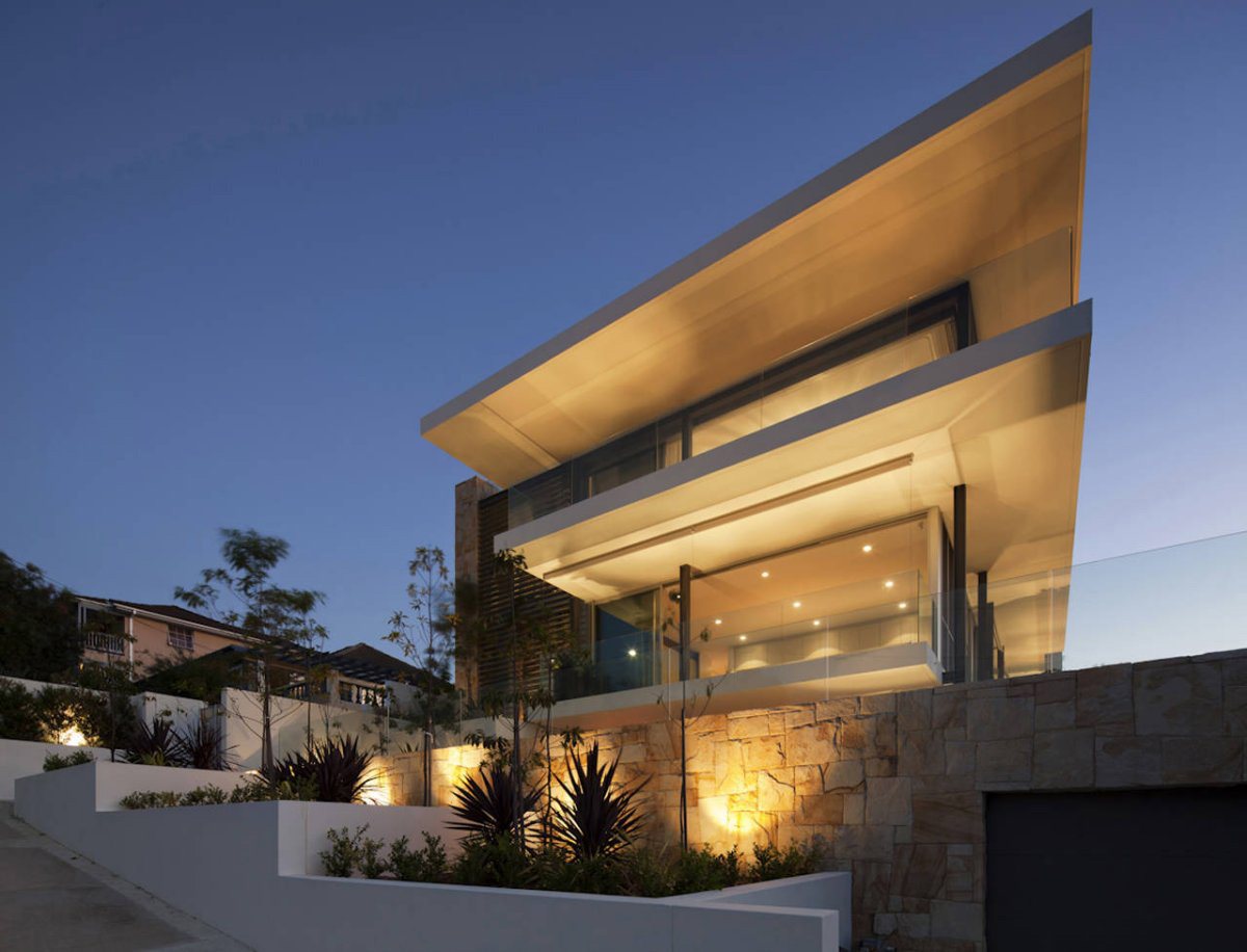 Dusk, Lighting, Vaucluse House in Sydney, Australia by MPR Design Group