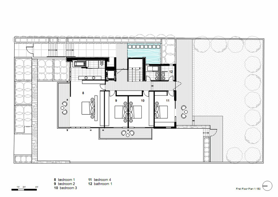 First Floor Plan, Vaucluse House in Sydney, Australia by MPR Design Group