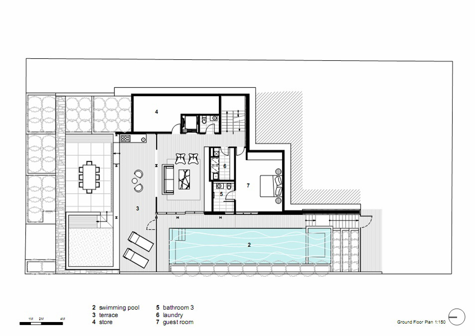 Ground Floor Plan, Vaucluse House in Sydney, Australia by MPR Design Group