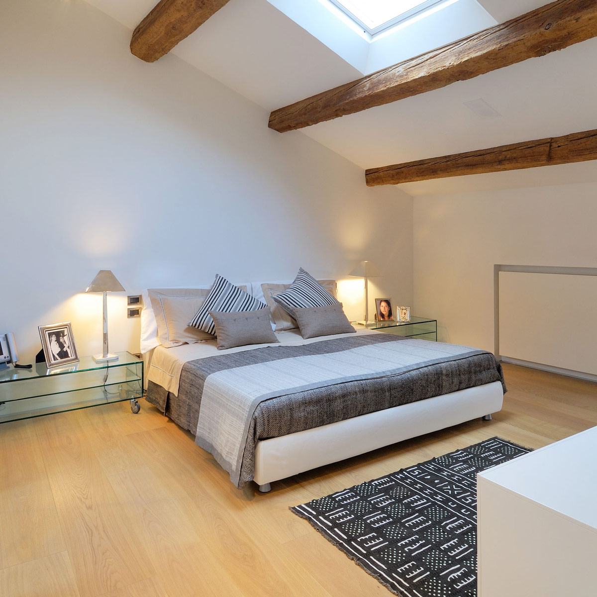 Bedroom, Penthouse in Udine, Italy by Menzo Architettura & Design
