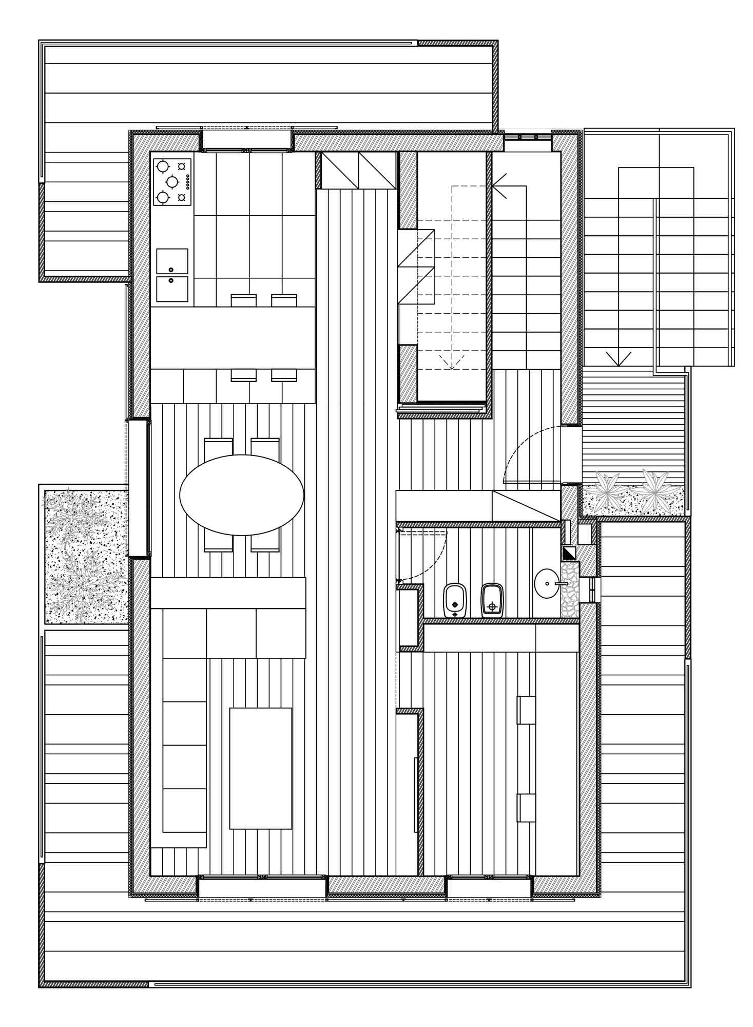 Ground Floor Plan, RGR House in Rimini, Italy by archiNOW!