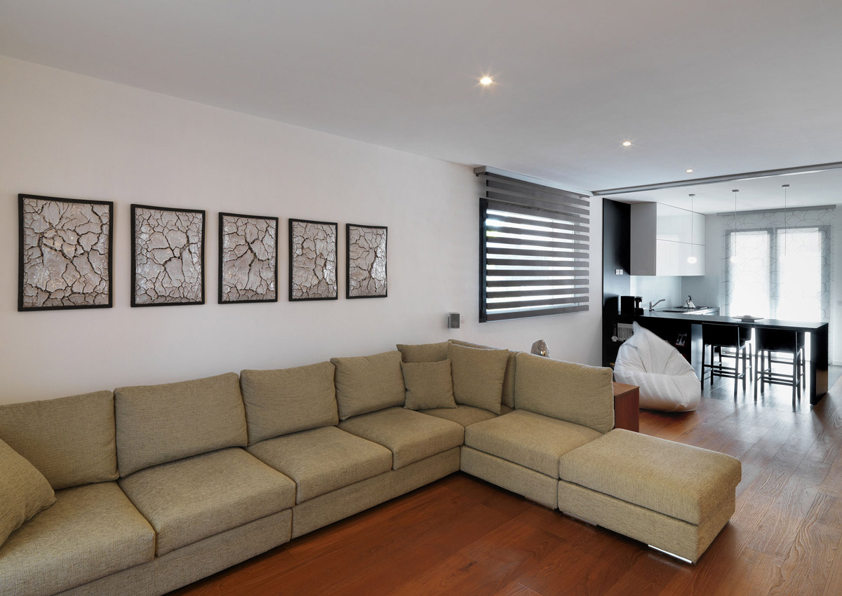 Kitchen, Living Space, Sofa, RGR House in Rimini, Italy by archiNOW!