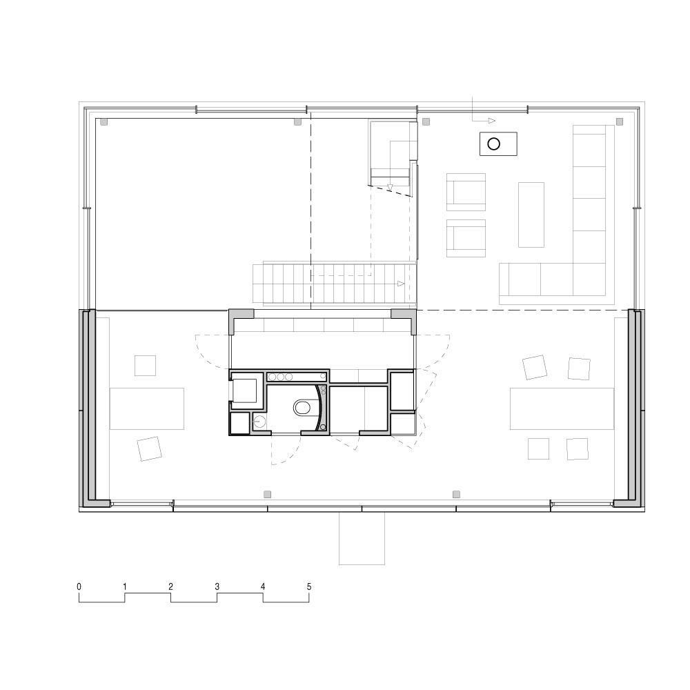 First Floor Plan, Rieteiland House in Amsterdam by Hans van Heeswijk Architects