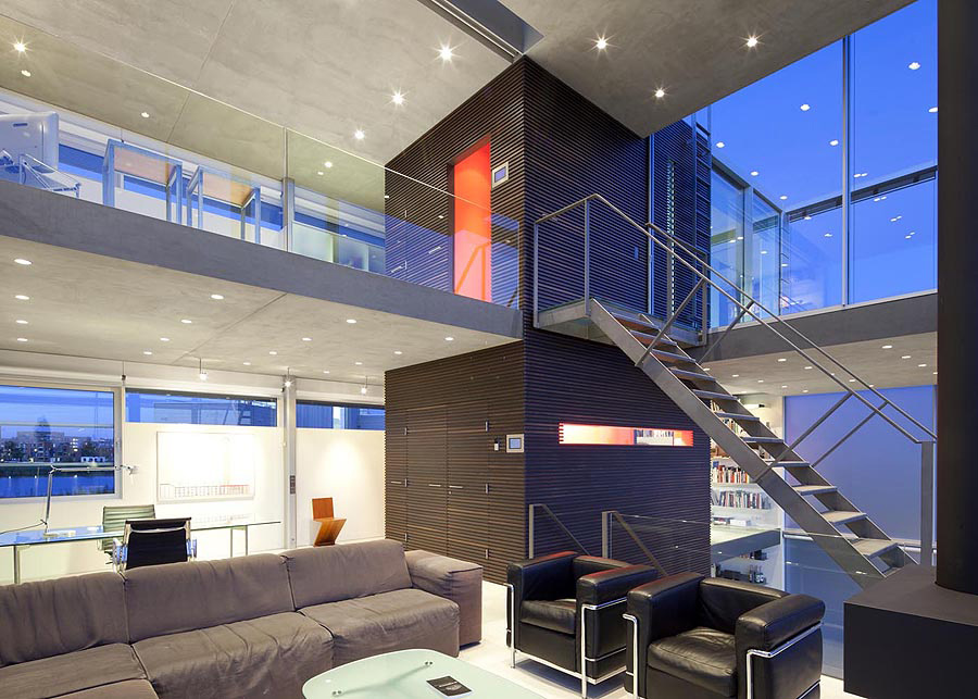 Living Space, Rieteiland House in Amsterdam by Hans van Heeswijk Architects