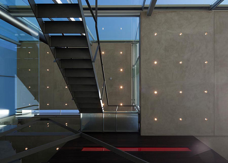 Stairs, Rieteiland House in Amsterdam by Hans van Heeswijk Architects
