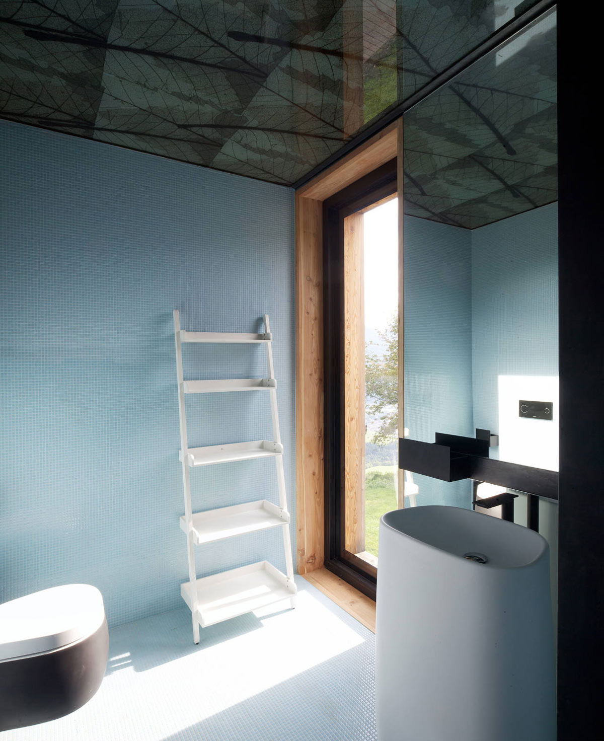 Bathroom, Modern Sink, Kurt Brunner Residence in Sterzing, Italy