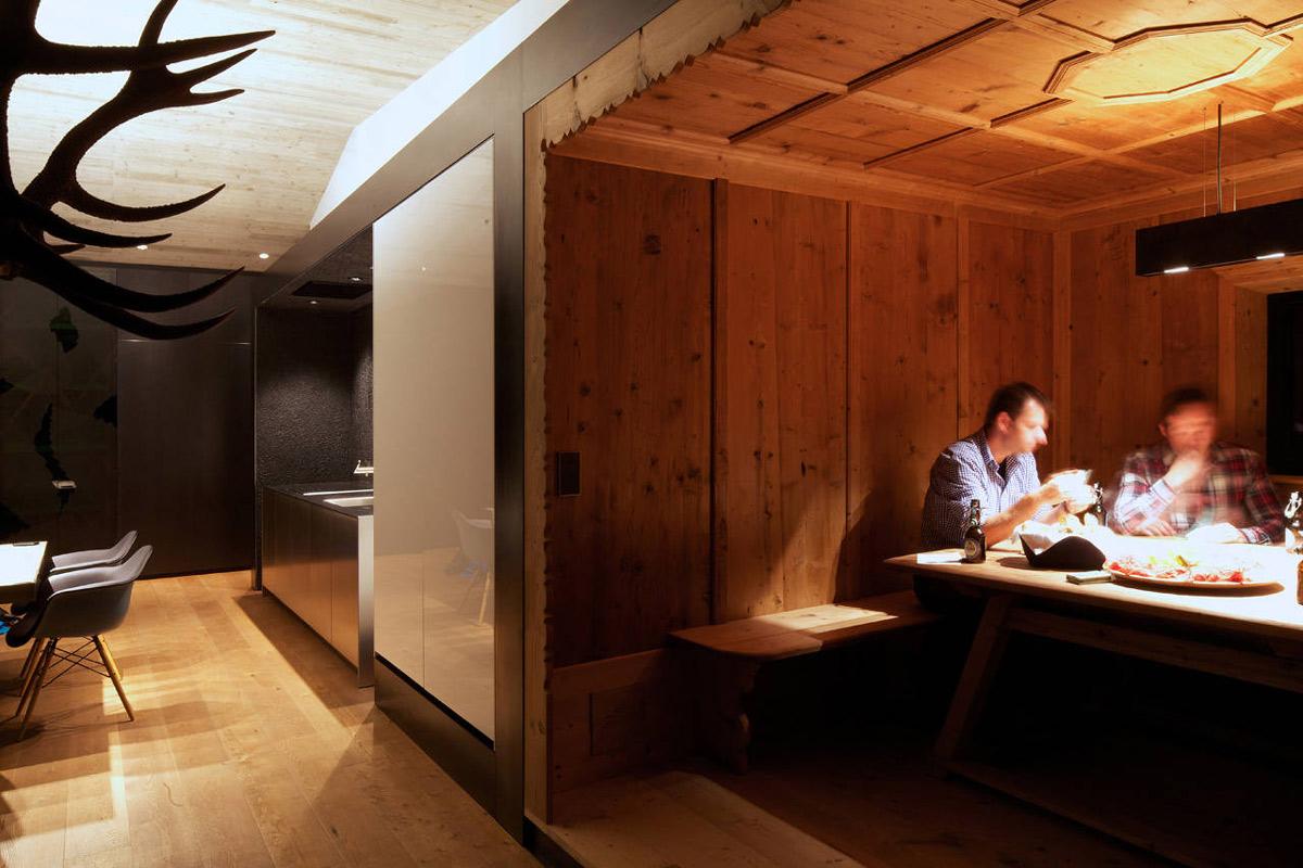 Dining Space, Kurt Brunner Residence in Sterzing, Italy
