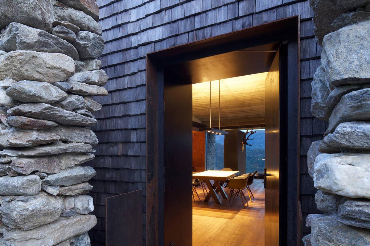 Entrance, Kurt Brunner Residence in Sterzing, Italy