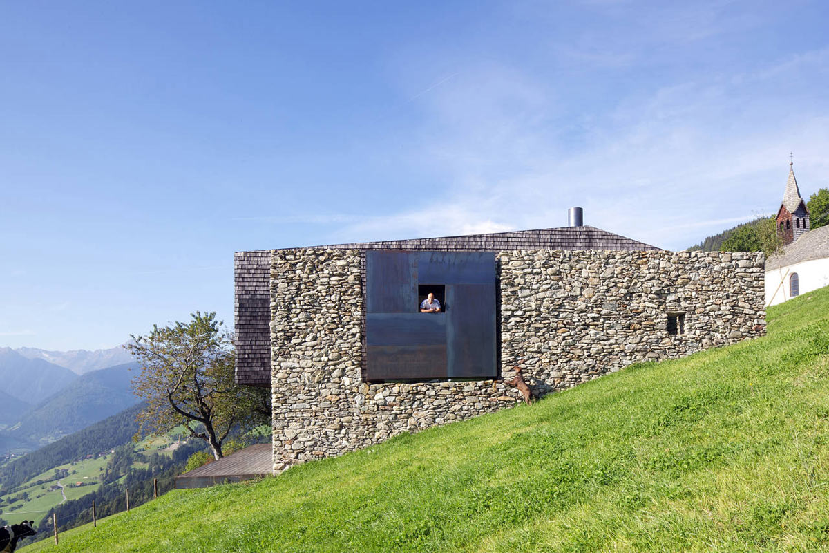 Stone Walls, Views, Kurt Brunner Residence in Sterzing, Italy