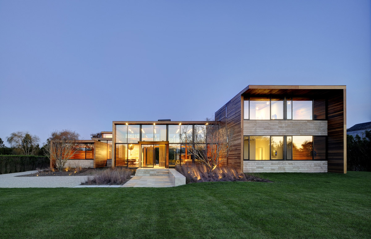 Lighting, Sam's Creek in Bridgehampton, New York by Bates Masi Architects