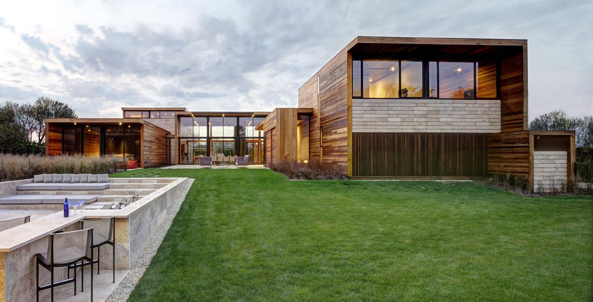 Outdoor Living, Garden, Sam's Creek in Bridgehampton, New York by Bates Masi Architects