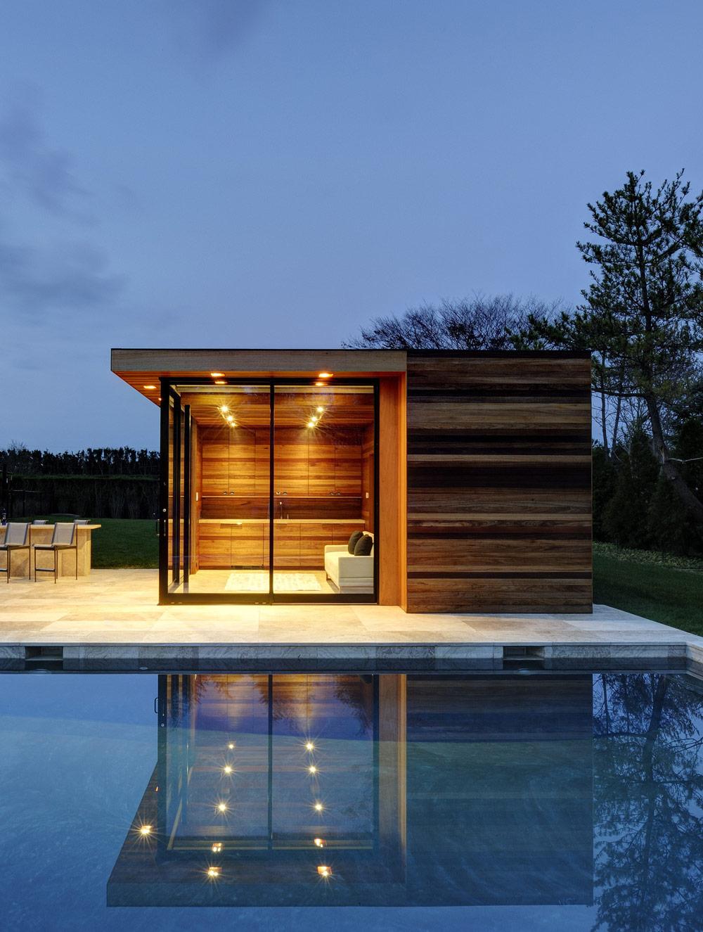 Pool House, Sam's Creek in Bridgehampton, New York by Bates Masi Architects