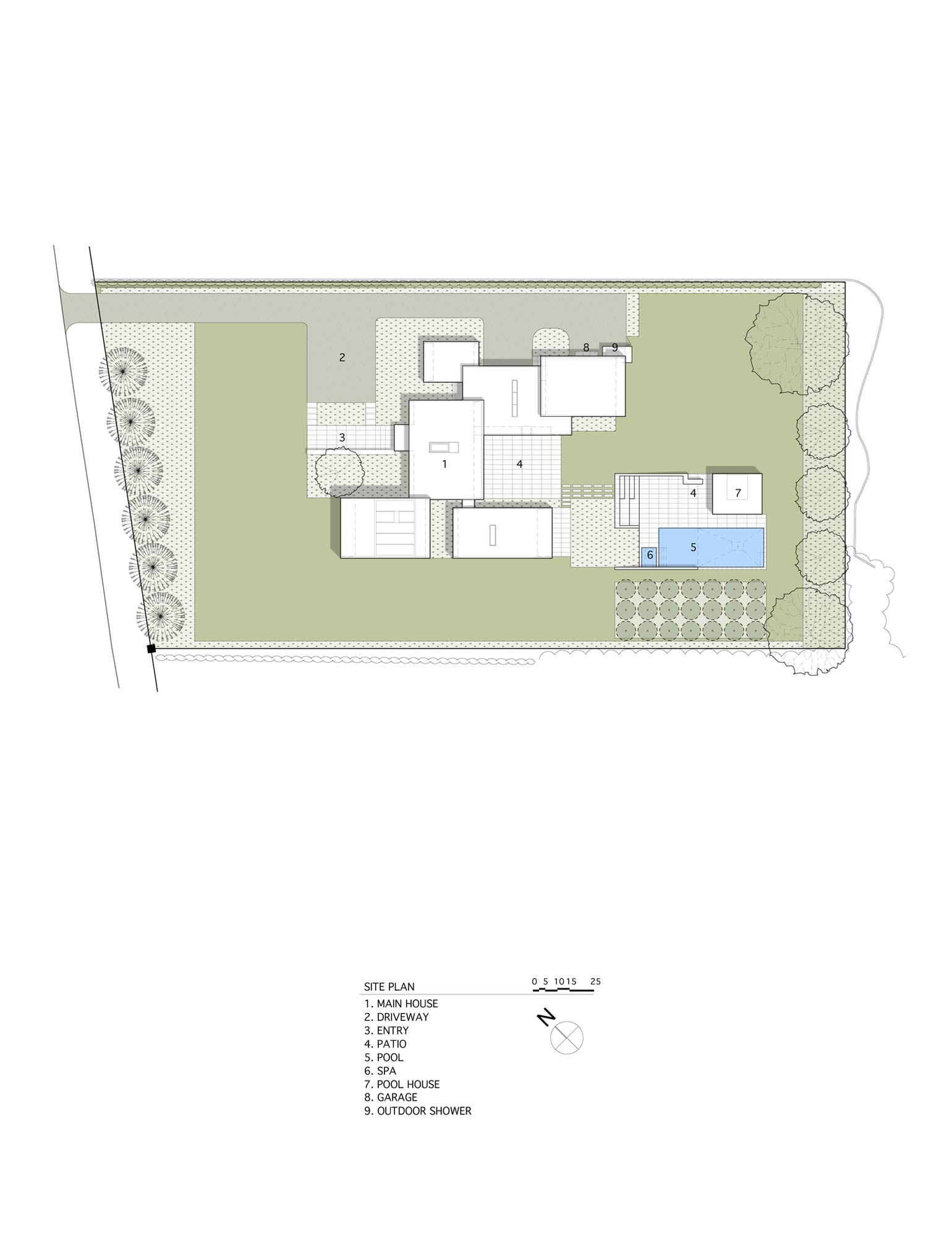 Site Plan, Sam's Creek in Bridgehampton, New York by Bates Masi Architects