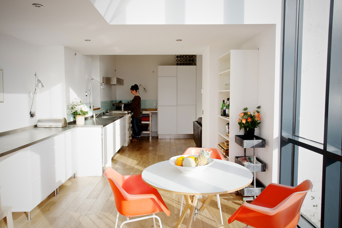 Bright Kitchen, Dining Space, The Sheiling, Overlooking Loch Fyne, Scotland by APD Architecture