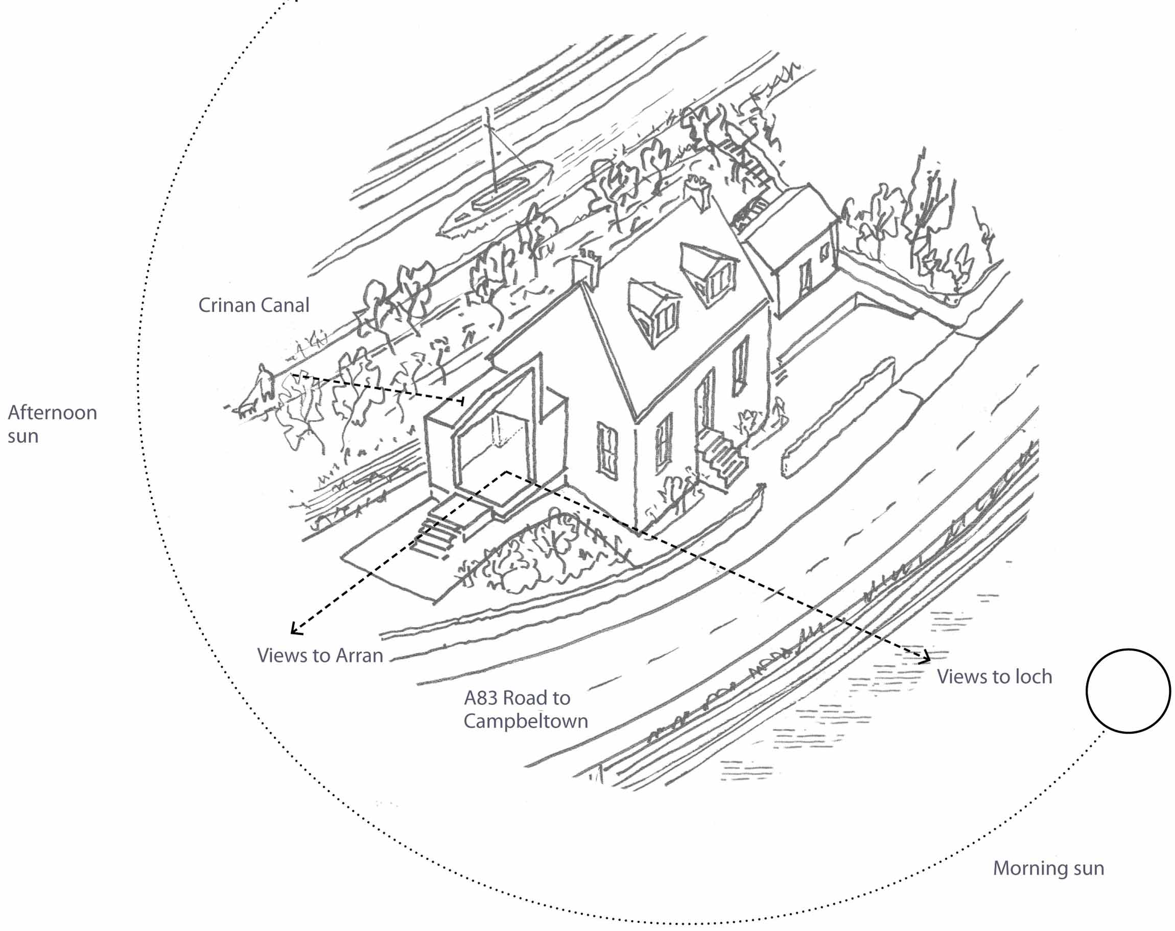 Diagram, The Sheiling, Overlooking Loch Fyne, Scotland by APD Architecture