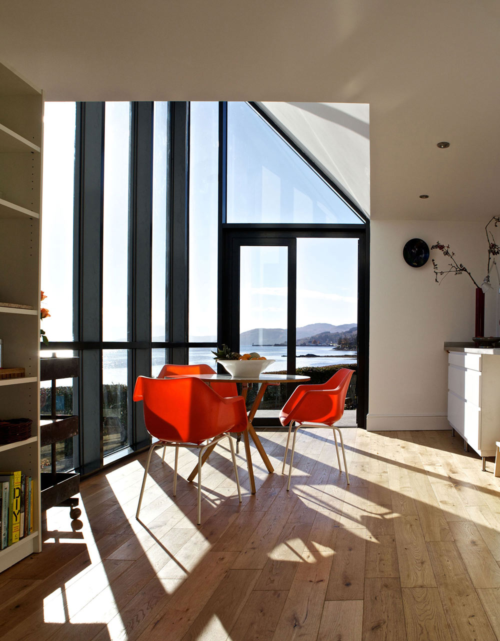 Dining Table, Loch Views, The Sheiling, Overlooking Loch Fyne, Scotland by APD Architecture