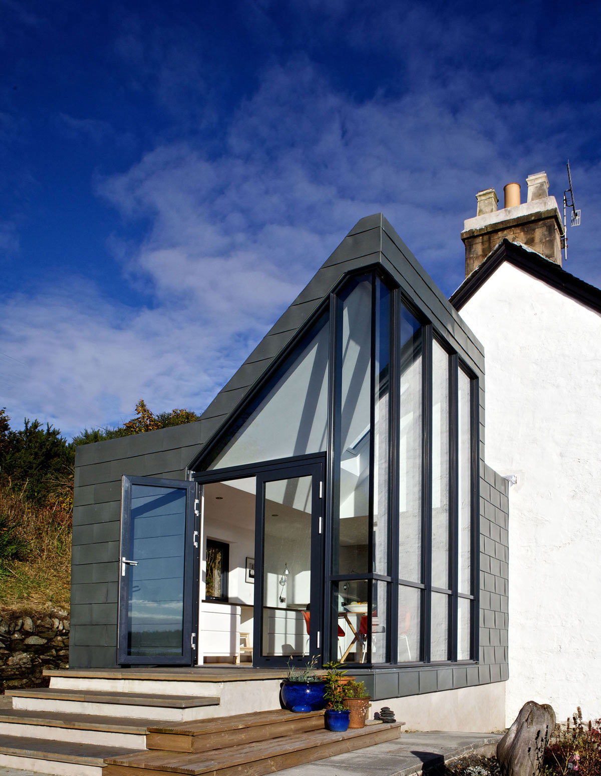 Patio Doors, Glass Walls, The Sheiling, Overlooking Loch Fyne, Scotland by APD Architecture