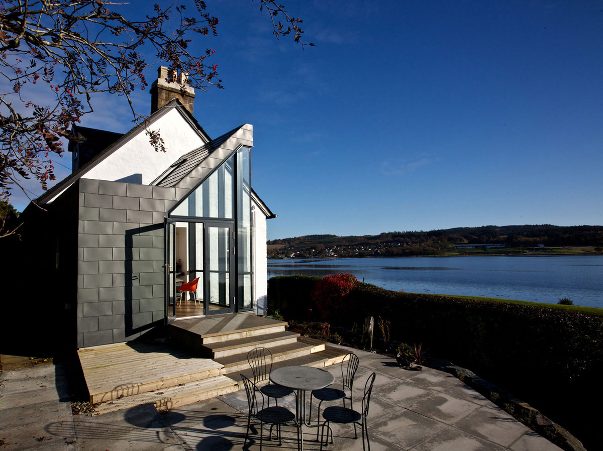 Patio Doors, Steps, The Sheiling, Overlooking Loch Fyne, Scotland by APD Architecture