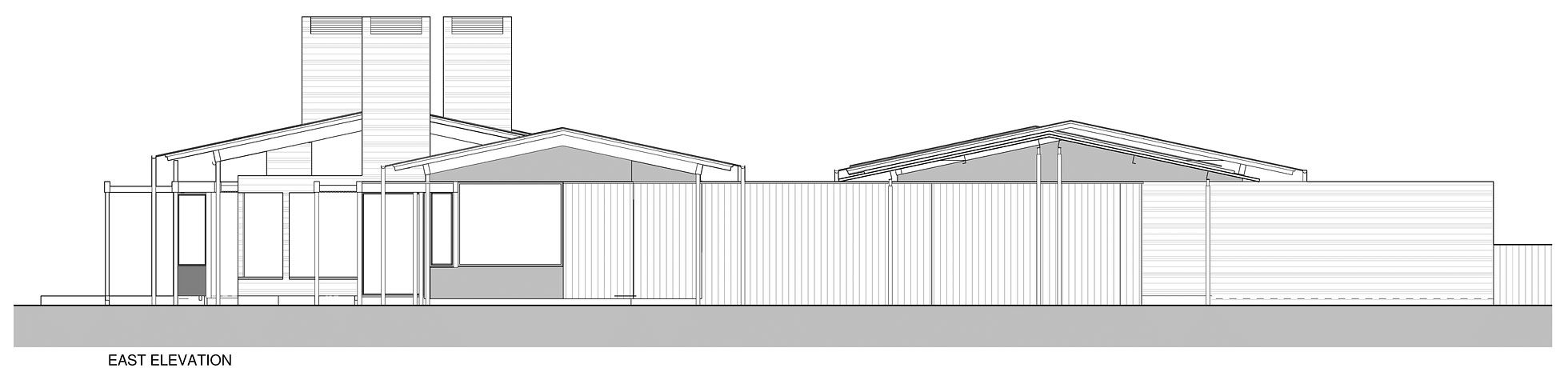 East Elevation, Wairau Valley House in Rapaura, New Zealand by Parsonson Architects