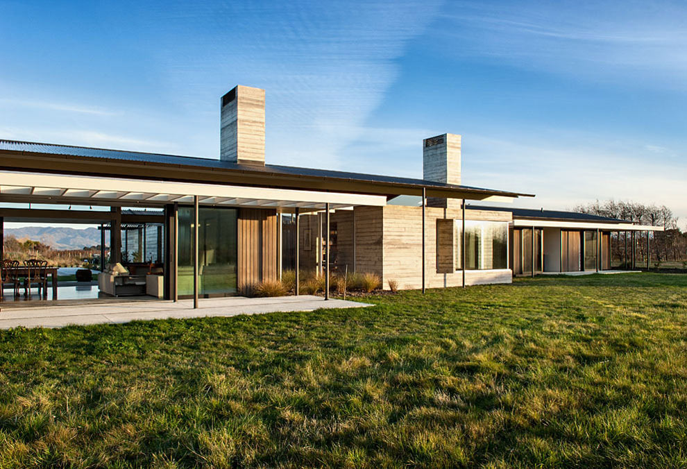 Garden, Wairau Valley House in Rapaura, New Zealand by Parsonson Architects