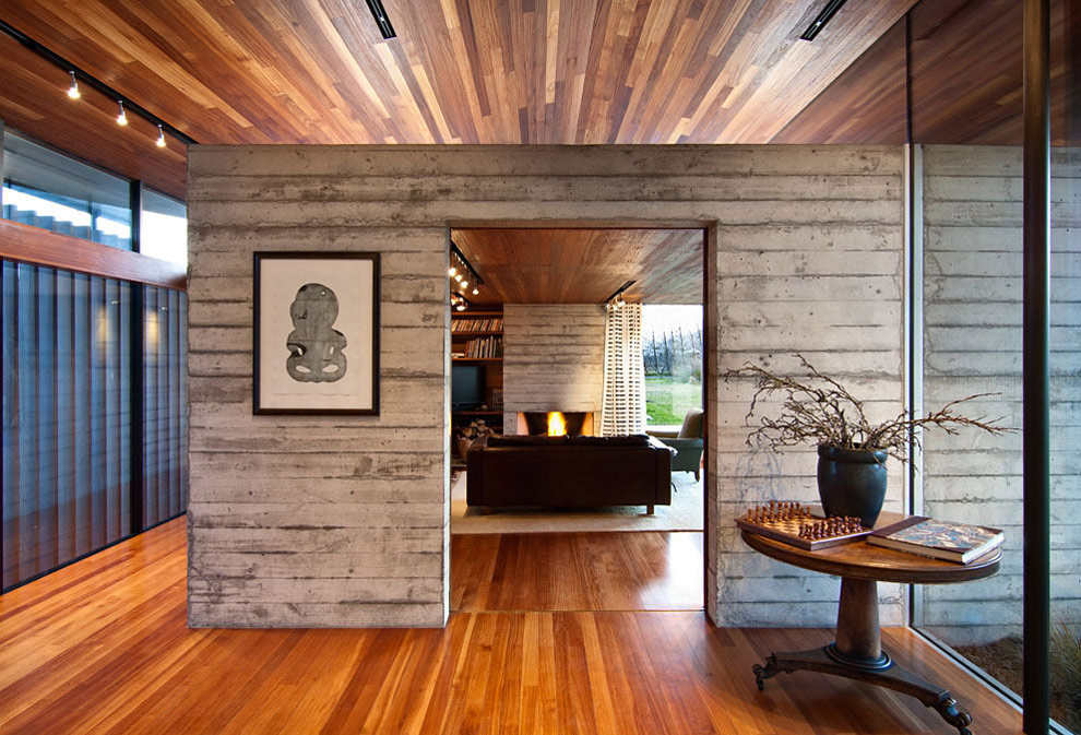 Hall, Wood & Concrete, Wairau Valley House in Rapaura, New Zealand by Parsonson Architects