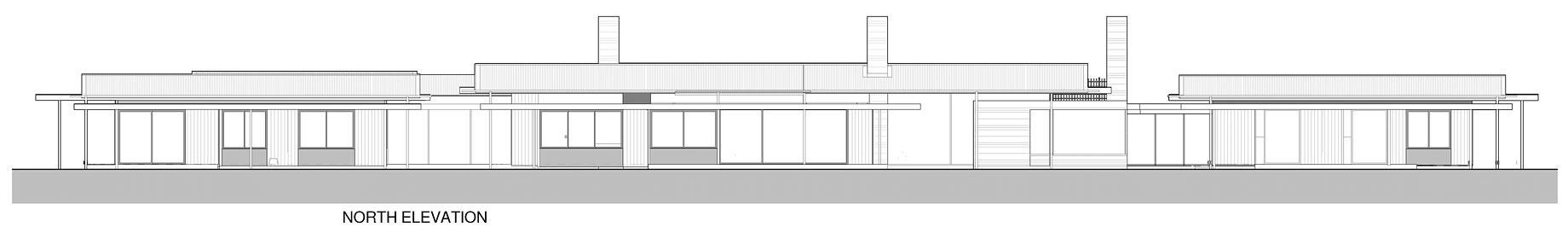 North Elevation, Wairau Valley House in Rapaura, New Zealand by Parsonson Architects
