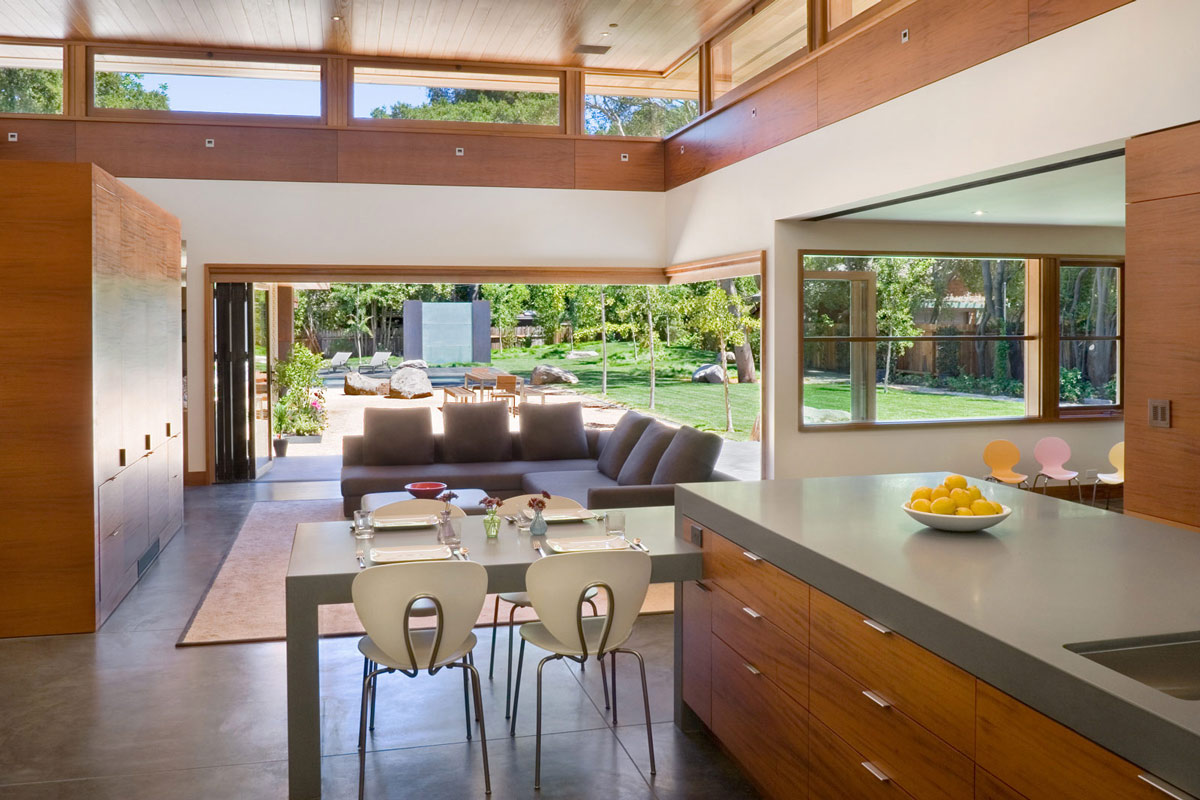 Kitchen, Living Space, Wheeler Residence in Menlo Park, California by William Duff Architects
