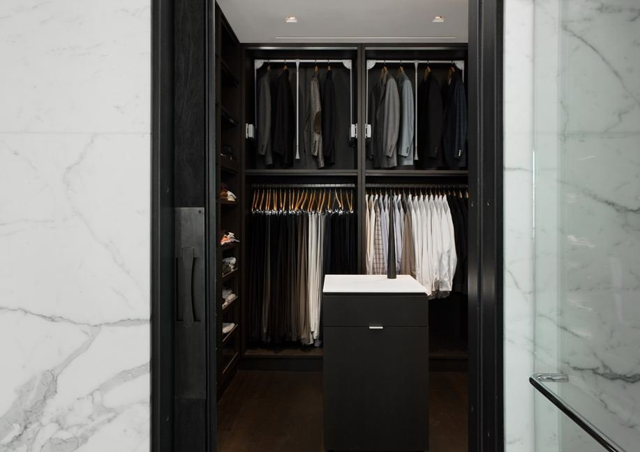 Walk-in-Wardrobe, Yorkville Penthouse I in Toronto, Canada by Cecconi Simone