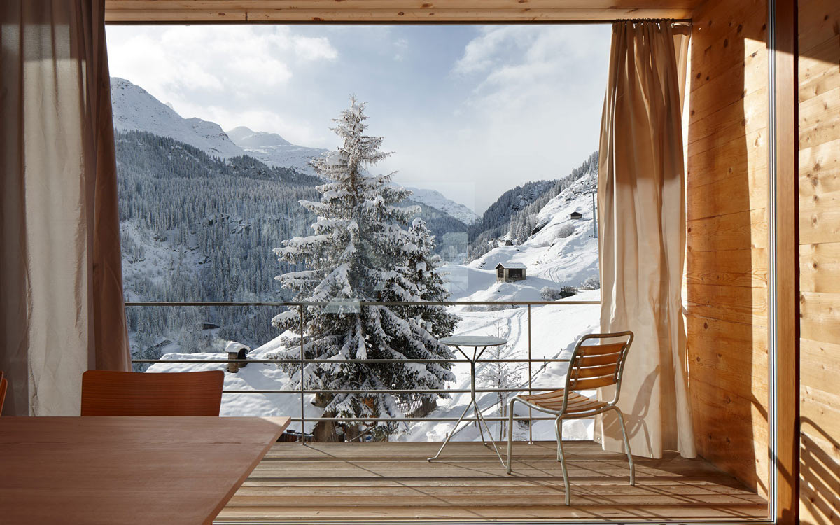 Balcony Views, Zumthor Vacation Homes in Leis, Switzerland