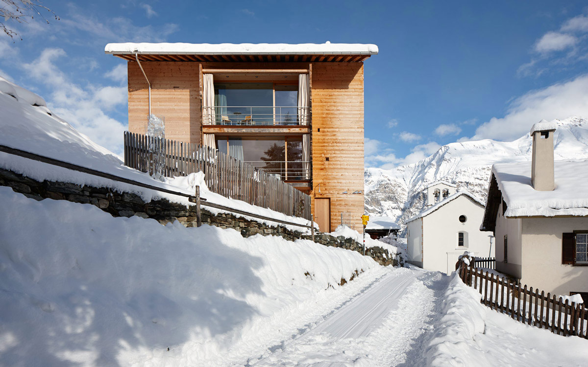 Balcony, Patio Doors, Zumthor Vacation Homes in Leis, Switzerland