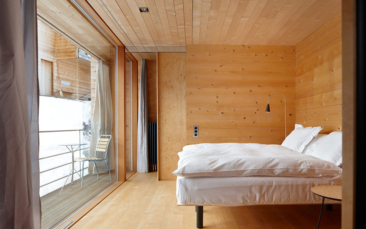 Bedroom, Zumthor Vacation Homes in Leis, Switzerland