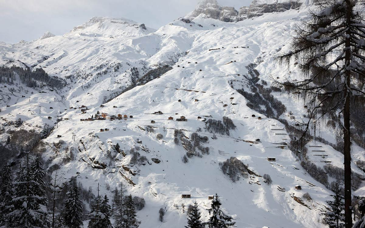 Mountains, Zumthor Vacation Homes in Leis, Switzerland