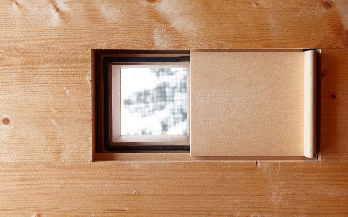 Slide-Shut Window, Zumthor Vacation Homes in Leis, Switzerland