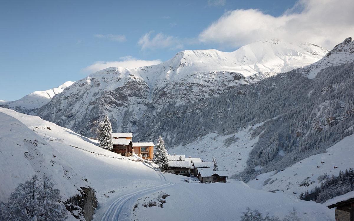 Mountain Views, Zumthor Vacation Homes in Leis, Switzerland