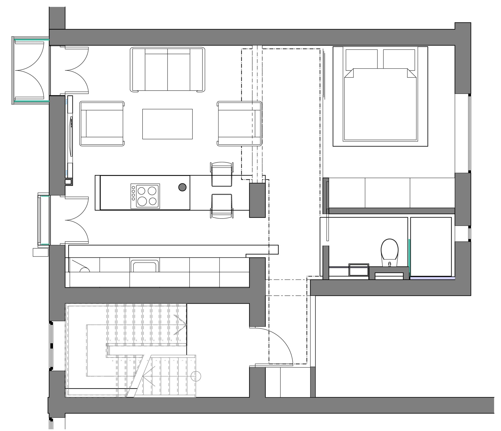 Small Apartment Plan apartment-reykjavik-iceland-floor-plan