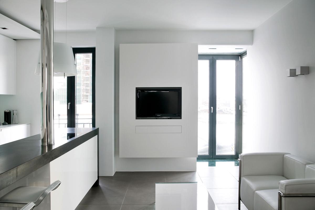 Kitchen, Living Space, Modern Apartment in Reykjavik, Iceland