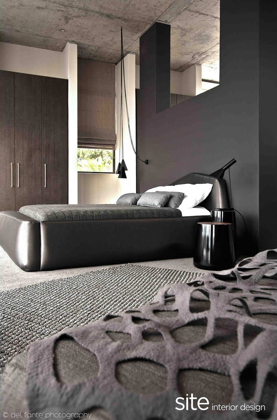 Grey Bedroom, Aupiais House in Camps Bay, South Africa