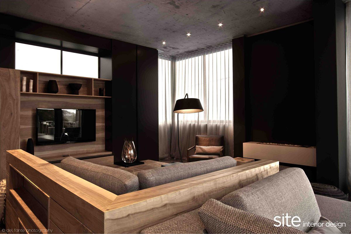 Living Space, Sofas, Lighting, Aupiais House in Camps Bay, South Africa
