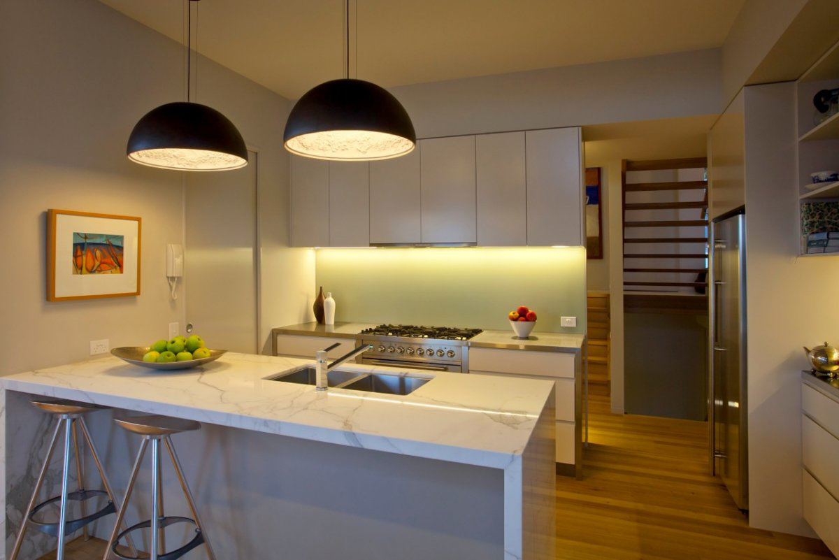 Breakfast Bar, Marble Counter, Kitchen, Coolum Bays Beach House in Queensland, Australia