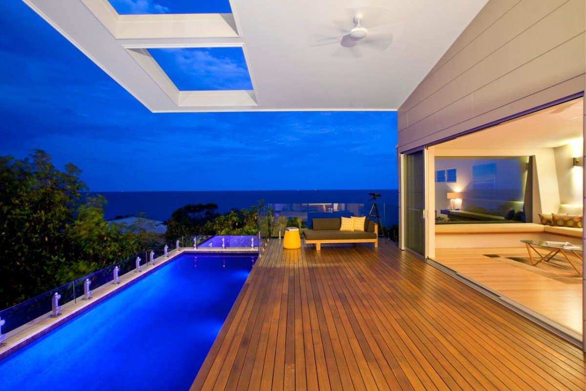 Pool, Lighting, Terrace, Coolum Bays Beach House in Queensland, Australia