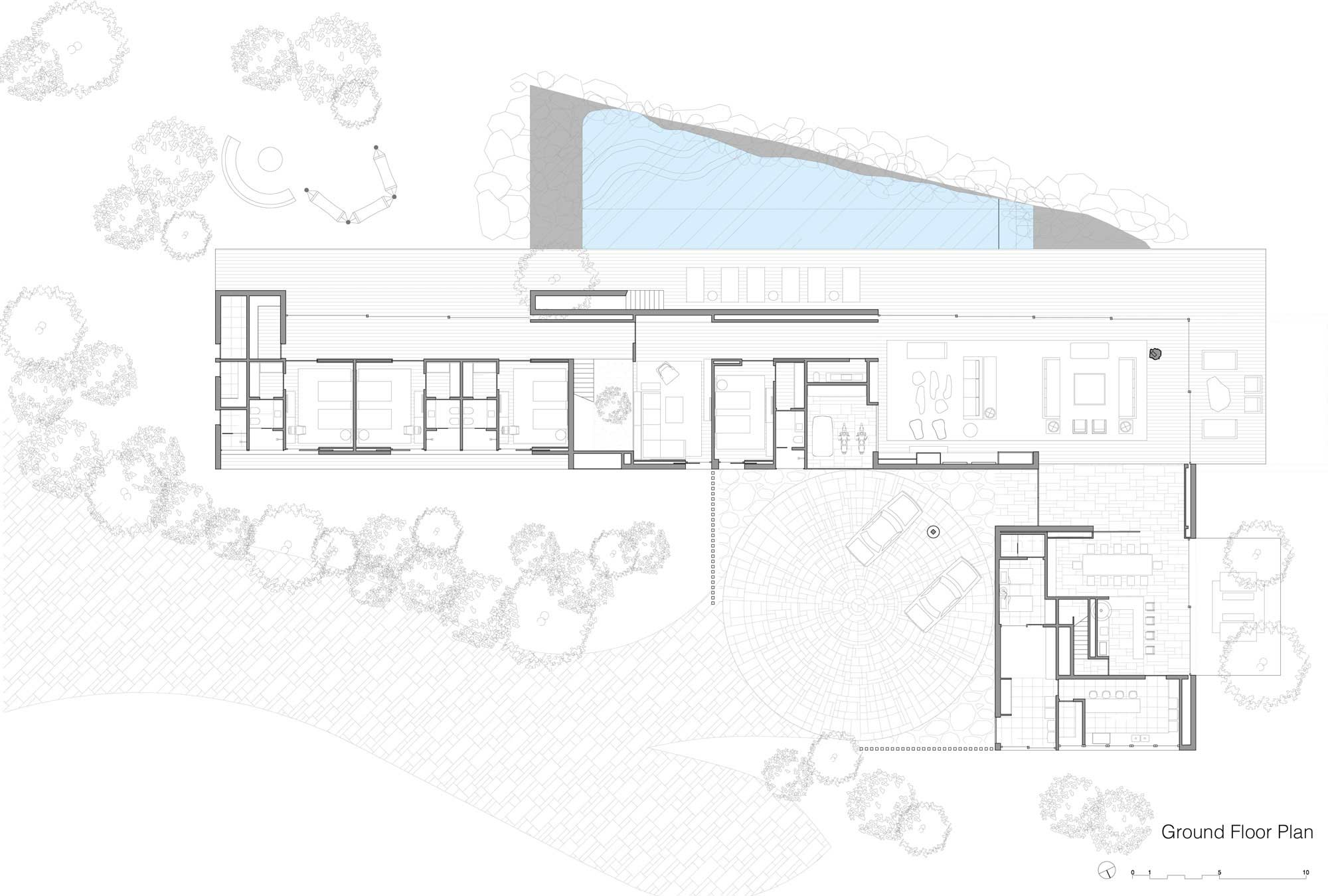 Ground Floor Plan, Casa Itu in São Paulo, Brazil by Studio Arthur Casas