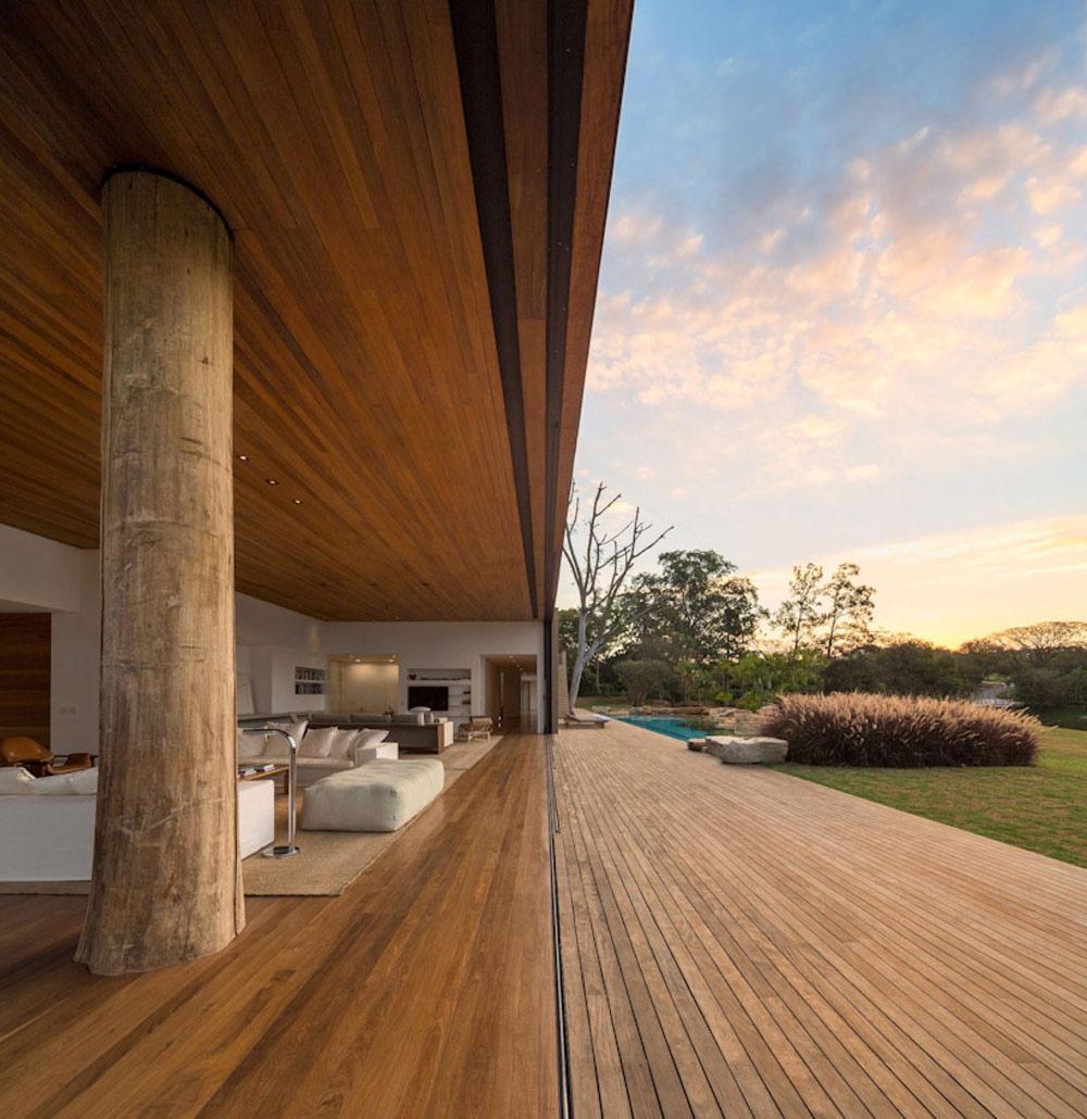 Sofas, Living Space, Terrace, Casa Itu in São Paulo, Brazil by Studio Arthur Casas