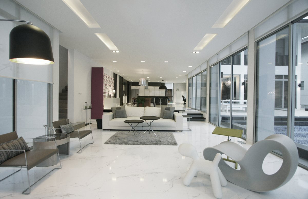 Bright Living Space, Baan Citta in Bangkok, Thailand by THE XSS