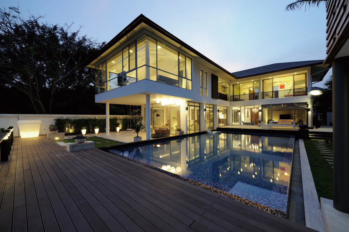 Decking, Terrace, Pool, Lighting, Baan Citta in Bangkok, Thailand by THE XSS