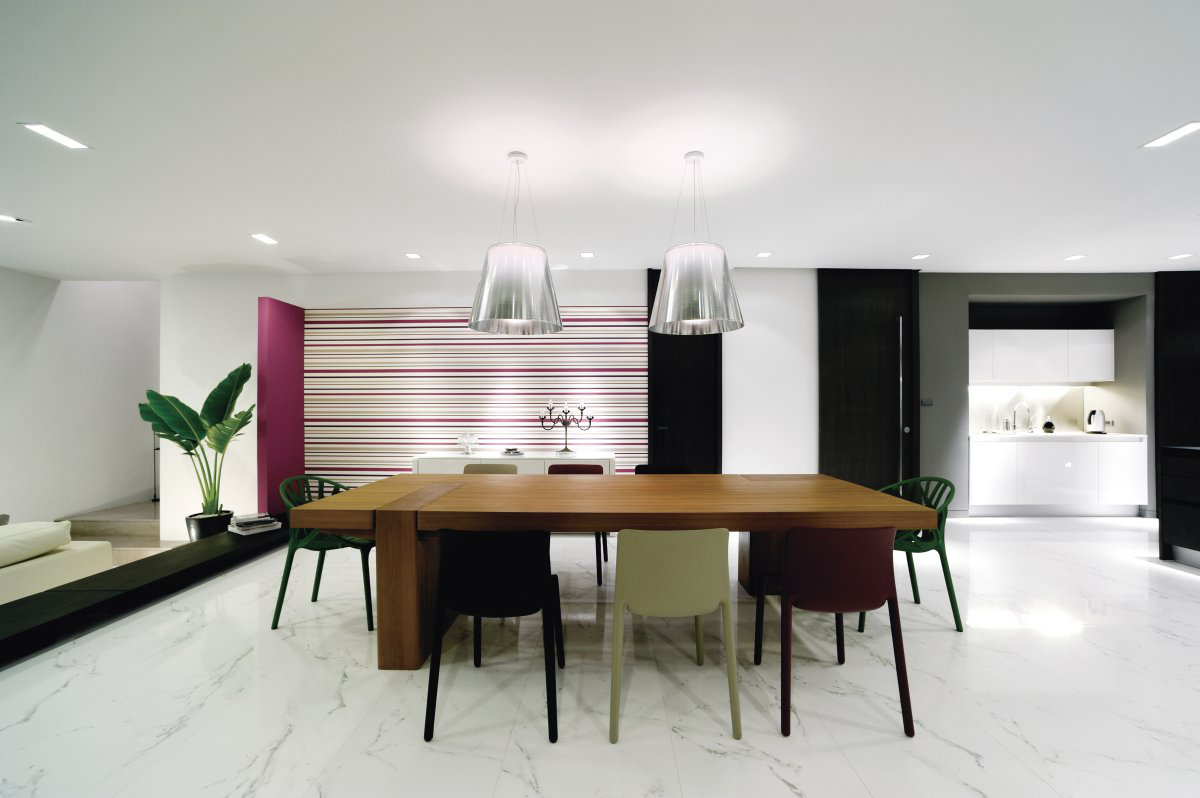 Dining Table, Lighting, Baan Citta in Bangkok, Thailand by THE XSS