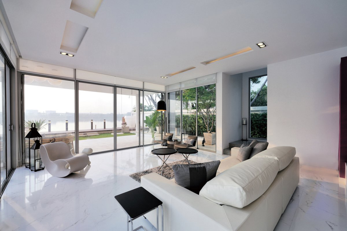 Living Space, Lake Views, Baan Citta in Bangkok, Thailand by THE XSS