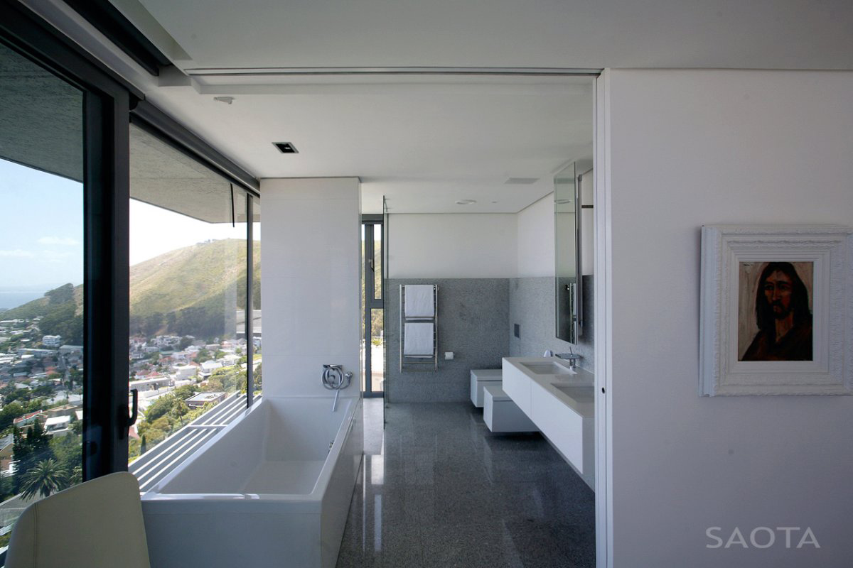 Bathroom, Views, Contemporary 3-Level Home in Cape Town, South Africa