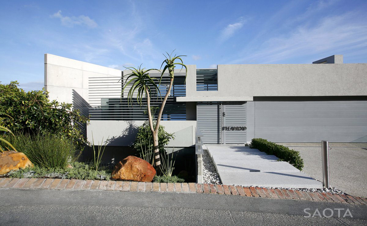 Garage, Entrance, Contemporary 3-Level Home in Cape Town, South Africa