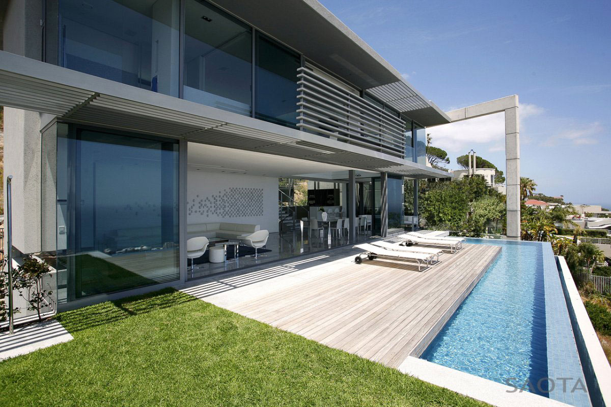 Infinity Pool, Terrace, Contemporary 3-Level Home in Cape Town, South Africa