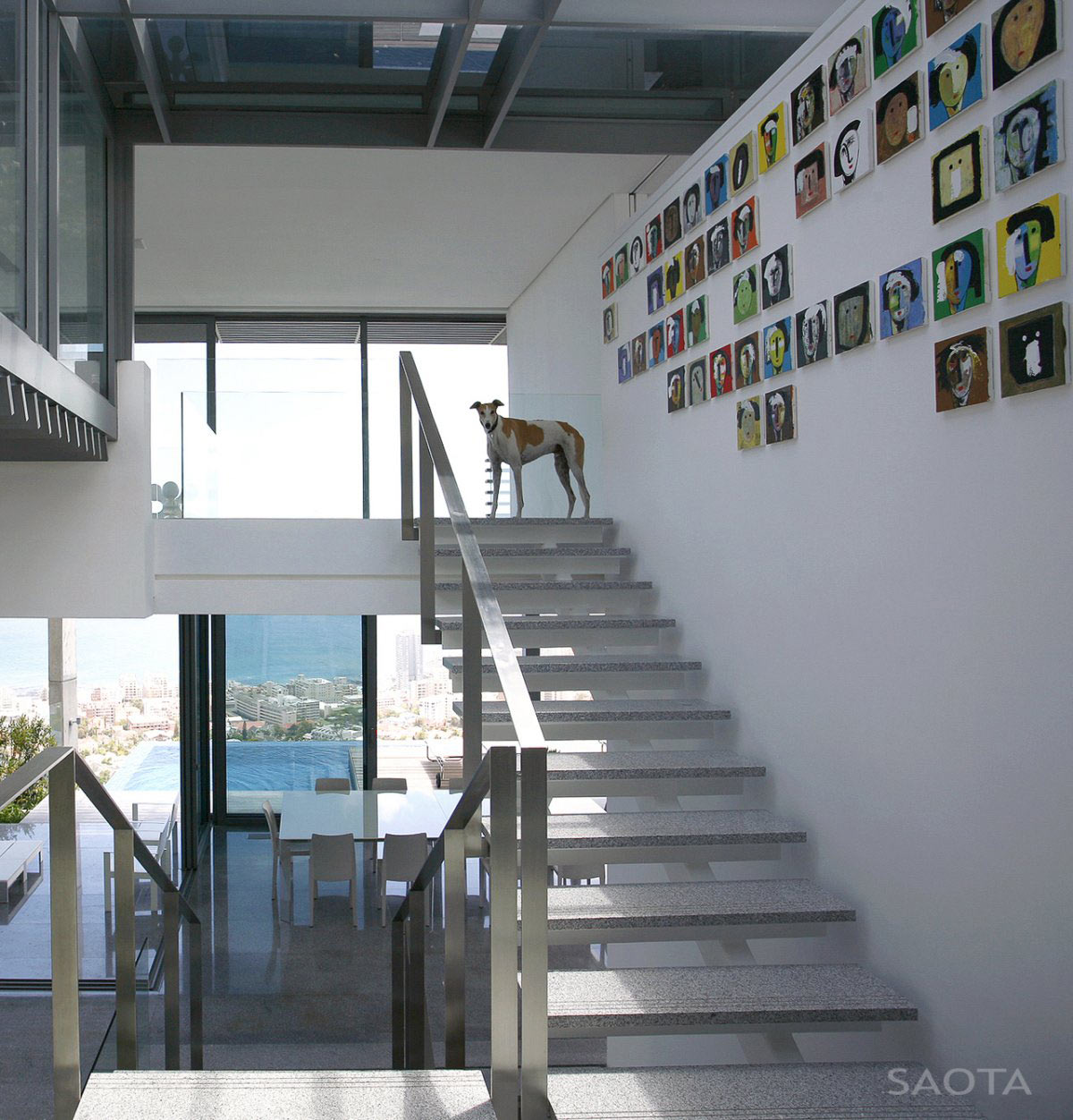 Art, Stairs, Contemporary 3-Level Home in Cape Town, South Africa